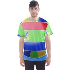 Balloon Volleyball Ball Sport Men s Sport Mesh Tee