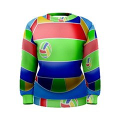 Balloon Volleyball Ball Sport Women s Sweatshirt