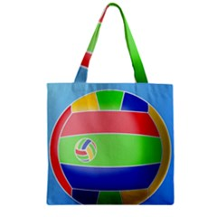 Balloon Volleyball Ball Sport Zipper Grocery Tote Bag