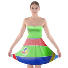 Balloon Volleyball Ball Sport Strapless Bra Top Dress