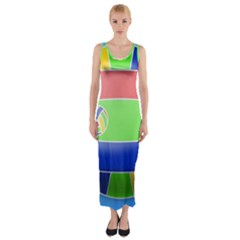 Balloon Volleyball Ball Sport Fitted Maxi Dress