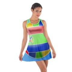 Balloon Volleyball Ball Sport Cotton Racerback Dress