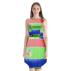 Balloon Volleyball Ball Sport Sleeveless Chiffon Dress
