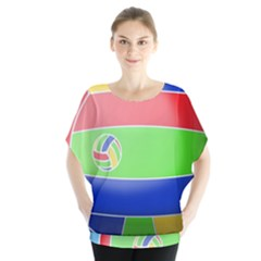 Balloon Volleyball Ball Sport Blouse