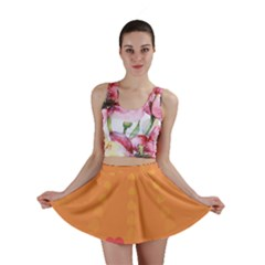 Love Heart Valentine Sun Flowers Mini Skirt