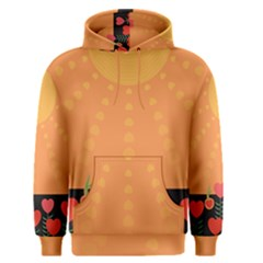 Love Heart Valentine Sun Flowers Men s Pullover Hoodie