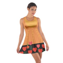 Love Heart Valentine Sun Flowers Cotton Racerback Dress