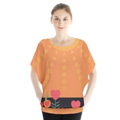 Love Heart Valentine Sun Flowers Blouse
