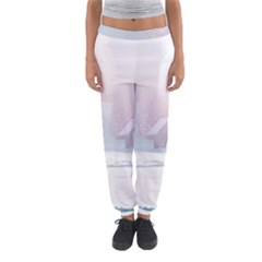 Winter Day Pink Mood Cottages Women s Jogger Sweatpants