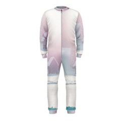 Winter Day Pink Mood Cottages Onepiece Jumpsuit (kids)