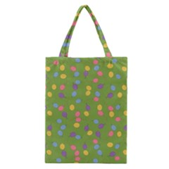 Balloon Grass Party Green Purple Classic Tote Bag
