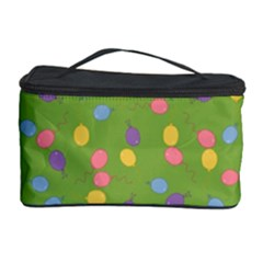 Balloon Grass Party Green Purple Cosmetic Storage Case