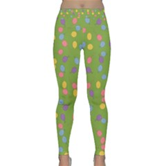 Balloon Grass Party Green Purple Classic Yoga Leggings