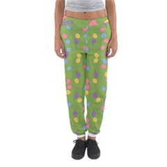 Balloon Grass Party Green Purple Women s Jogger Sweatpants