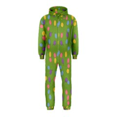 Balloon Grass Party Green Purple Hooded Jumpsuit (Kids)