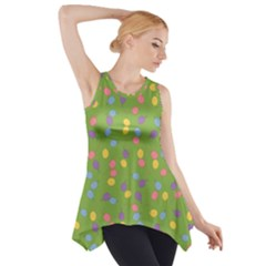 Balloon Grass Party Green Purple Side Drop Tank Tunic