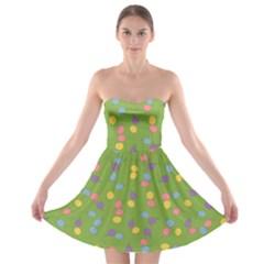 Balloon Grass Party Green Purple Strapless Bra Top Dress