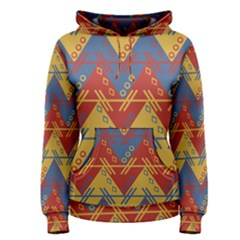 Aztec South American Pattern Zig Zag Women s Pullover Hoodie