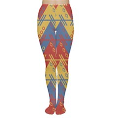 Aztec South American Pattern Zig Zag Women s Tights