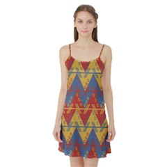 Aztec South American Pattern Zig Zag Satin Night Slip