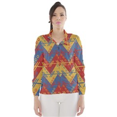 Aztec South American Pattern Zig Zag Wind Breaker (Women)