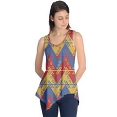 Aztec South American Pattern Zig Zag Sleeveless Tunic