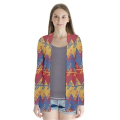 Aztec South American Pattern Zig Zag Cardigans