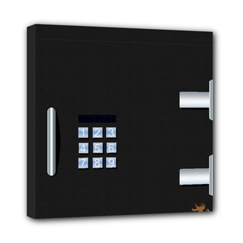 Safe Vault Strong Box Lock Safety Mini Canvas 8  X 8