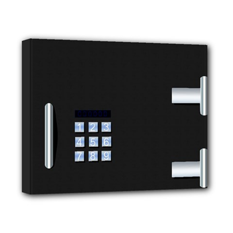 Safe Vault Strong Box Lock Safety Canvas 10  x 8