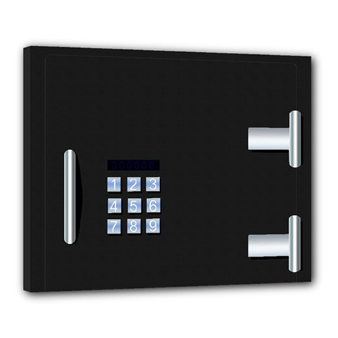 Safe Vault Strong Box Lock Safety Canvas 20  X 16