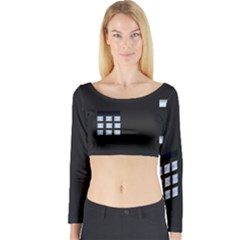 Safe Vault Strong Box Lock Safety Long Sleeve Crop Top