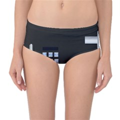 Safe Vault Strong Box Lock Safety Mid-Waist Bikini Bottoms