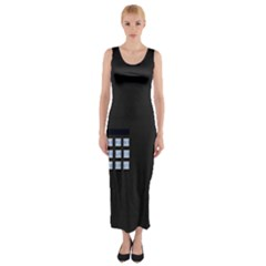 Safe Vault Strong Box Lock Safety Fitted Maxi Dress