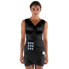 Safe Vault Strong Box Lock Safety Wrap Front Bodycon Dress