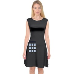 Safe Vault Strong Box Lock Safety Capsleeve Midi Dress