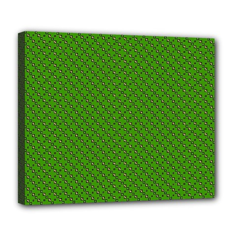 Paper Pattern Green Scrapbooking Deluxe Canvas 24  x 20