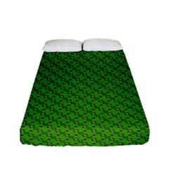 Paper Pattern Green Scrapbooking Fitted Sheet (full/ Double Size)