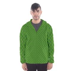 Paper Pattern Green Scrapbooking Hooded Wind Breaker (Men)