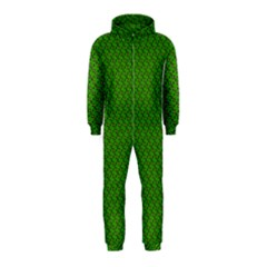 Paper Pattern Green Scrapbooking Hooded Jumpsuit (kids)
