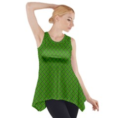 Paper Pattern Green Scrapbooking Side Drop Tank Tunic