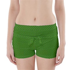 Paper Pattern Green Scrapbooking Boyleg Bikini Wrap Bottoms