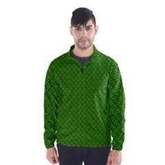 Paper Pattern Green Scrapbooking Wind Breaker (Men)