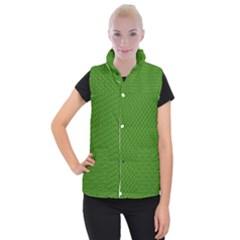 Paper Pattern Green Scrapbooking Women s Button Up Puffer Vest