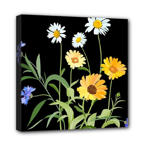 Flowers Of The Field Mini Canvas 8  x 8