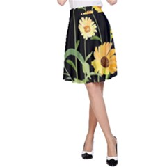 Flowers Of The Field A Line Skirt