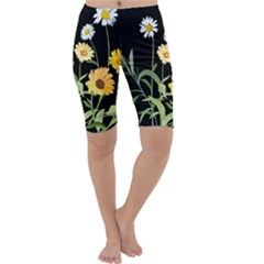 Flowers Of The Field Cropped Leggings