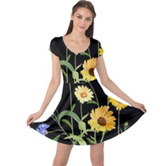 Flowers Of The Field Cap Sleeve Dresses
