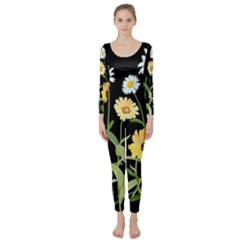 Flowers Of The Field Long Sleeve Catsuit