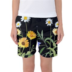 Flowers Of The Field Women s Basketball Shorts