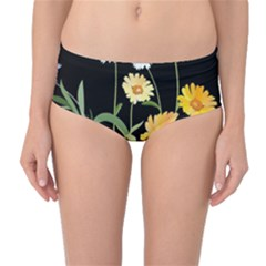 Flowers Of The Field Mid Waist Bikini Bottoms